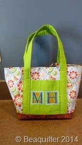 More hand made presents for Christmas, purse with embroidered initials