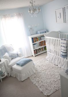 Soft And Clic Baby Boy Room Love The Afk Crib Taylor Scott Chair Change Blue To Pink Or Lilac