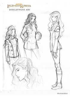 korranation:    An early sketch design for Asami Sato - a young non-bender and daughter to a wealthy industrialist.  2/27/2012    Sign up for Korra NationHERE.