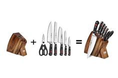 Best Kitchen Knife Set, Best Kitchen Knives, Wusthof Knives, Wusthof Classic, Knife Sets, Chef Knife, Knife Block, Recipes, Shopping