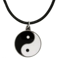 Carolina Glamour Collection Pewter Yin Yang Cord Necklace