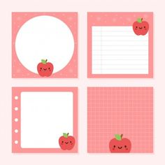 Pack Of Notepad Cute Apple Collections Korean Stationery, Cute Stationery, Stationary, Printable Scrapbook Paper, Printable Stickers, Kawaii Stickers, Cute Stickers, Journal Stickers, Planner Stickers