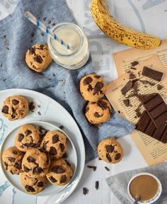 Cookies & Biscotti – Let's Treat Ourselves Cookie Recipes, Vegan Recipes, Tahini, Fun Desserts, Biscotti, Cookies, Banana, Treats, Chocolate