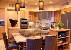 Elegant Contemporary Kitchen by Lori Carroll