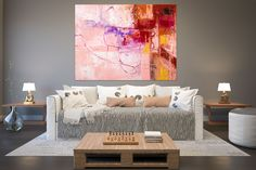 Items similar to Large Modern Wall Art Painting,Large Abstract Painting on Canvas,texture painting,gold canvas painting,gallery wall art on Etsy Large Abstract Wall Art, Large Canvas Art, Gold Canvas, Large Art, Office Wall Art, Home Decor Wall Art, Hallway Art, Texture Painting, Large Painting