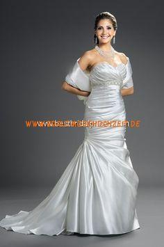 Elegantes Brautkleid stuttgart aus Satin A-Linie online kaufen 2012