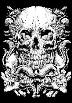More skulls... by Rafal Wechterowicz, via Behance