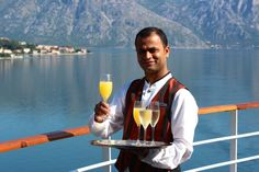 Photo: Champagne welcome from Silversea Cruises in Kotor. #ttot