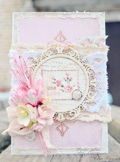 #pink shabby chic card DIY