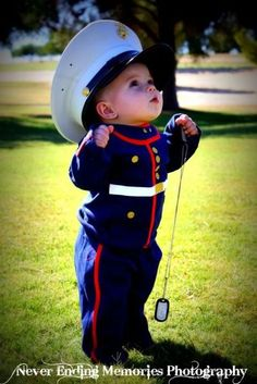 Little marine I will take a picture like this with my little boy in dress blues