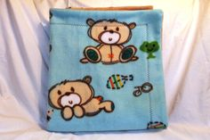 Check out this item in my Etsy shop https://www.etsy.com/listing/209793823/woodland-bear-baby-blanket-double-sided