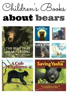 A great list of Children's Books about Bears! Perfect for a unit on bears, North America, hibernation, or wildlife in general.