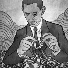 Obama  Dongyun Lee - Illustration http://www.causes.com/actions/1726661-support-hr-40-by-signing-white-house-petition