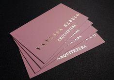 Cartão de Visita Hotstamping