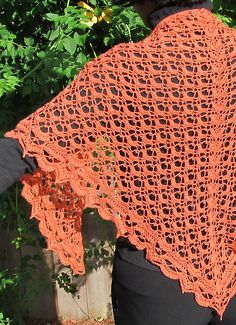 Ravelry: Fritillary Shawl pattern by Aparna Rolfe free crochet Crochet Prayer Shawls, Poncho Au Crochet, Crochet Shawls And Wraps, Crochet Scarves, Crochet Yarn, Crochet Clothes, Crochet Stitches, Crochet Hooks, Crochet Patterns