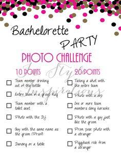 Instant Download / PDF: Bachelorette Party par InStyleInSpirations