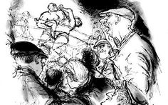 A Night at Wrestling, 1958, Punch, Ronald Searle