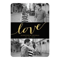 CHIC GOLD LOVE | SAVE THE DATE CARD