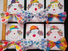 Maro's kindergarten: Αποκριάτικο κολλάζ κλόουν  Clown collage