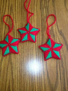 Vintage Snowflake Needlepoint Plastic Canvas Christmas Ornament I ...