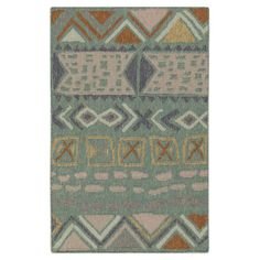 Showcasing a Southwestern-inspired motif in beige and gray, this hand-woven wool rug is delightful addition to your living room or den.