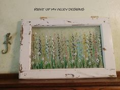 pane ideas shabby chic Your place to buy and sell all things handmade Painted Window Panes, Window Pane Art, European Windows, Vintage Windows, Small Windows, Small One, Shabby Chic, Wall Decor, Window Ideas