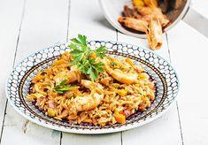 γιουβέτσι με γαρίδες Greek Cooking, Food Categories, Falafel, Paella, Risotto, Macaroni And Cheese, Seafood, Food Porn, Kitchens
