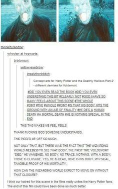 Sorry for the swearing, but I agree. They should have had Voldemort die a mortal death. No matter hard he tried, he was defeated by death in the end.