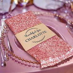 "1 PCS Blush Premium Sequin Napkin For Wedding Birthday Party Tableware - 20""x20"""