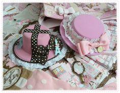 pink sweet lolita mini hats hair facinators to match wiht angelic pretty and baby the stars shine bright