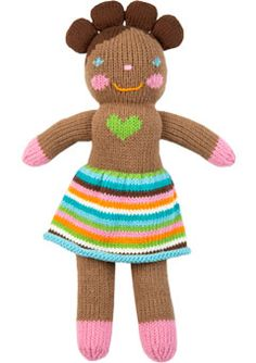 bla bla dolls are great baby gifts. they become lovies quite quickly and come in a variety of sizes and designs from people to animals to creatures. they even have a boy with a heart tattoo and a mohawk. that's what i'm talking about...!