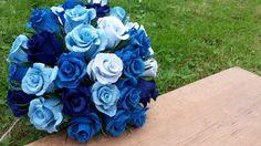 Dark blue Bridal Wedding Bouquet bride flowers by moniaflowers