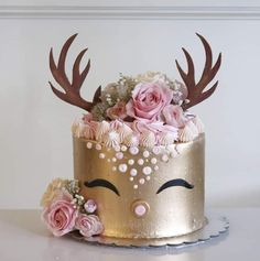 Cute Birthday Cakes, Birthday Desserts, Fancy Desserts, Birthday Ideas, Buttercream Decorating, Buttercream Cake, Cake Decorating, Pretty Cakes, Cute Cakes
