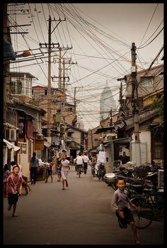 old street of nangpu, shanghai.