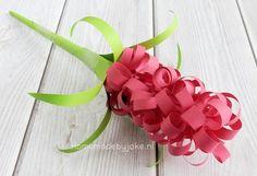 Hyacinten knutselen van papier - Homemade by Joke Collage, Iris, Crafts, Jewelry, Stage, Teaching, School, Kunst, Collages