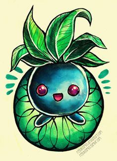 the Pokemon Oddish Full series So Far --- drawn with: watercolors, colored pencils, Photoshop ask me about Pokemon tattoo design commissions! STORE | YOUTUBE |&nb...