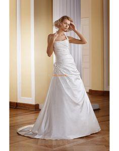 -Line Sweep / Brush Pociąg Aplikacjami Suknie ślubne 2014