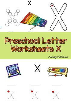 free Preschool Letter Worksheets for the letter x. Your preschooler will love them