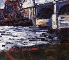 The Seine and the Chatou Bridge, by Maurice de Vlaminck (French, Fauvism, 1876–1958)
