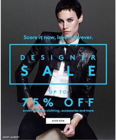 Barneys Sale Email Design
