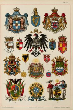 The art of heraldry : an encyclopædia of armory German Symbols, Friedrich Ii, Greek Royal Family, Family Shield, Scotland History, Flag Art, Illuminated Letters, Crests, Coat Of Arms