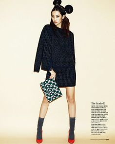 Stephanie Lee by Jang dukhwa for Cosmopolitan Korea Jan 2014