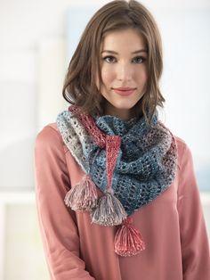 Tassel Shawl Crochet