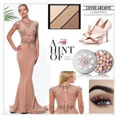 Mermaid Scoop Rhinestone Chiffon Prom Dress by johnnymuller on Polyvore featuring Guerlain and Elizabeth Arden