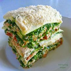 Venturing Vegan: Raw Lasagna with Killer Tomato Sauce and Quick Cashew Cheese