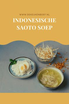 Saoto ajam - Javaanse kippensoep ⋆ De keukenboef Laksa, Curry, Keto, Eggs, Breakfast, Food, Breakfast Cafe, Curries, Egg