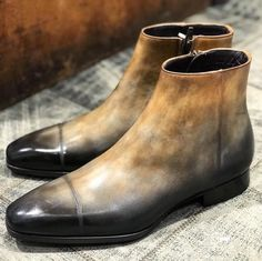 Patina : special order // Model : JMG It09 Men's Boots, Shoe Boots, Ankle Boots, Man Shoes, Shoes Sneakers, Derby, Fashion Shoes, Mens Fashion, Shoe Collection