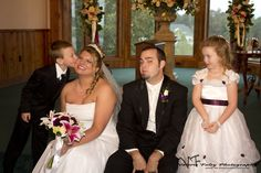 """Ha - flower girl wanted nothing to do with the """"kissing"""""""