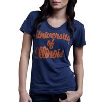 HOMAGE Women's University of Illinois College T-Shirt - $28.00