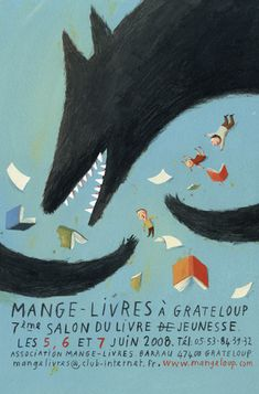 """eat (mange) / {grate*} books at Grateloup [town in South-Western France] (like a wolf """"loup"""")"""
